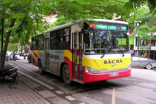 Passenger bus, cheap way to travel in Hanoi